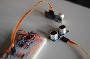 Ultraschall Entfernungsmesser Schaltplan : Projektews1415:melok [projektlabor robotik mintgrün]